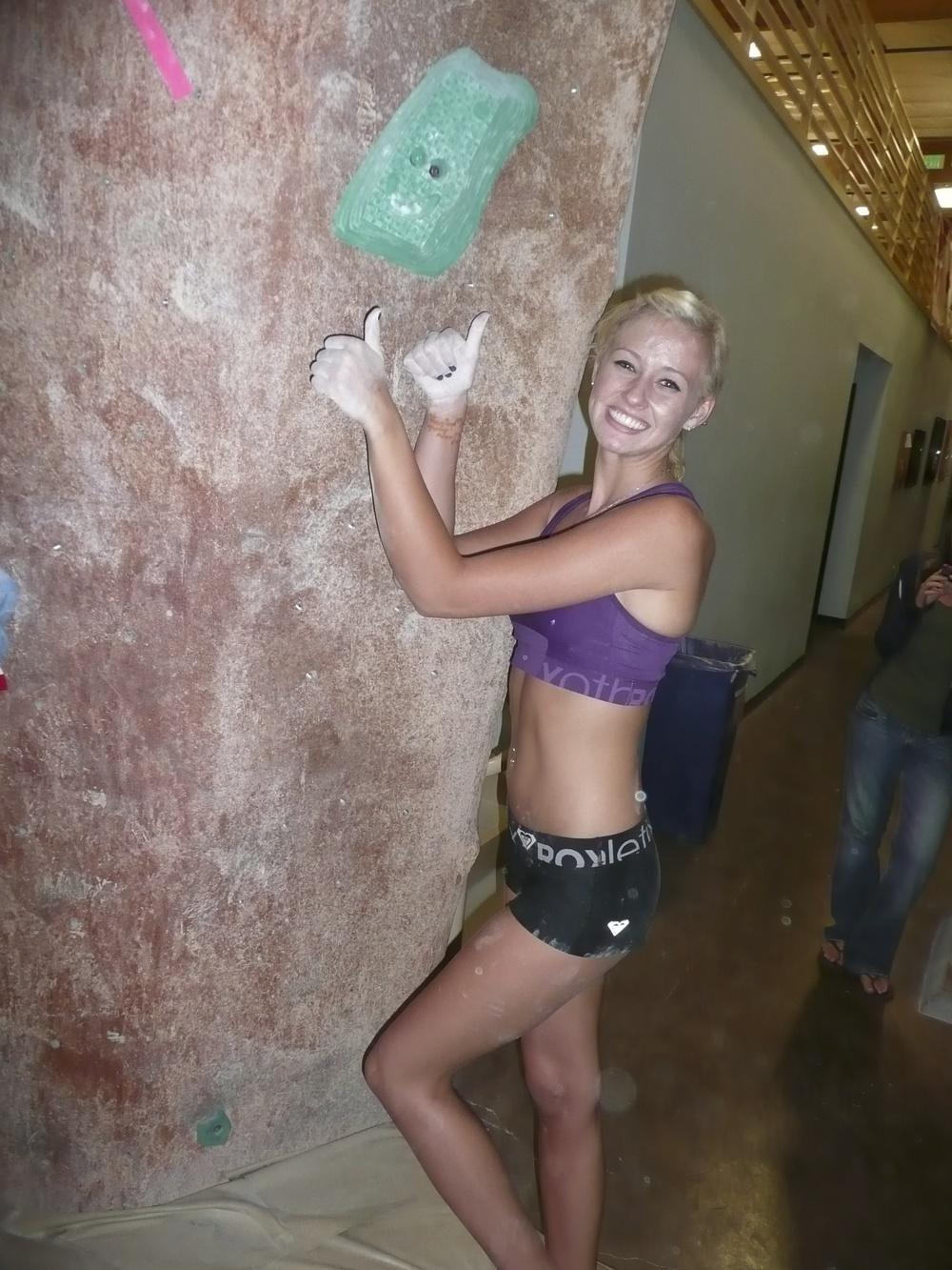 Sierra Blair-coyle Climbing Sierra Blair-coyle at Mesa Rim
