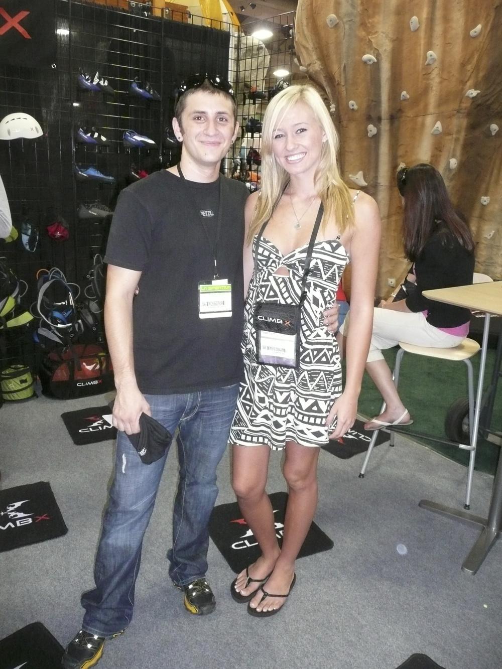 Kyle McFarland & Sierra Blair-Coyle 2011 Summer Outdoor Retailer Tradeshow