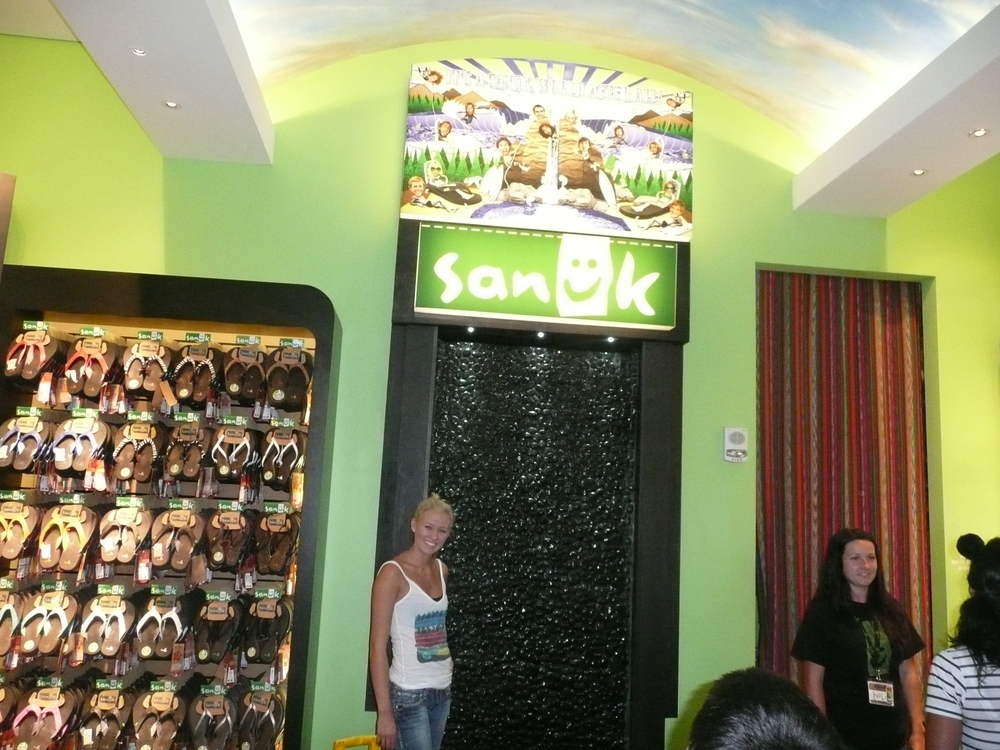 Sierra Blair-Coyle at the Sanuk Store in Downtown Disney