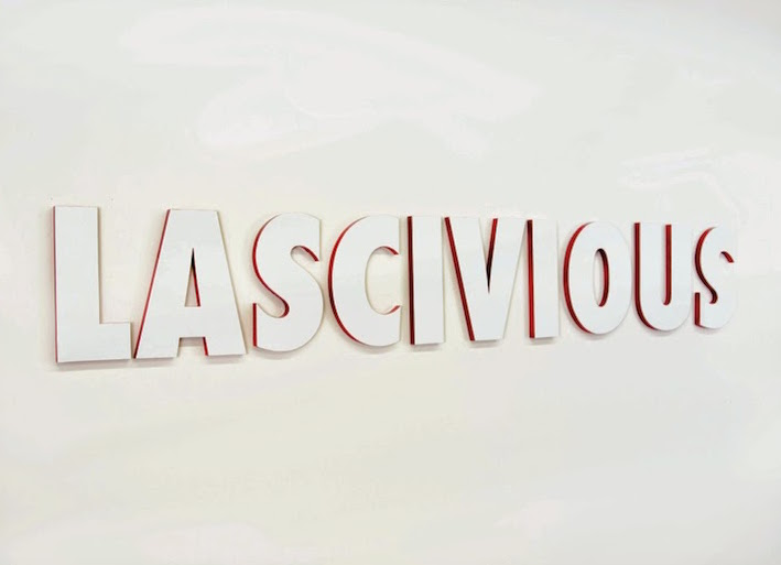 "Exhibition card for ""Lascivious""."