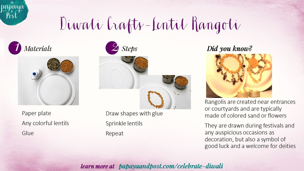 Diwali Rangoli craft