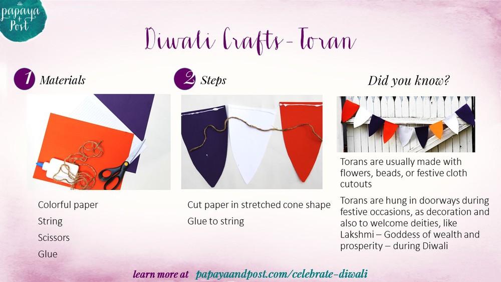 Diwali Toran craft