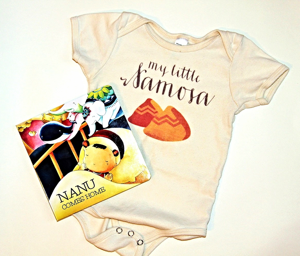 Baby Gift Set: Organic onesie + Board book  papaya+post $20