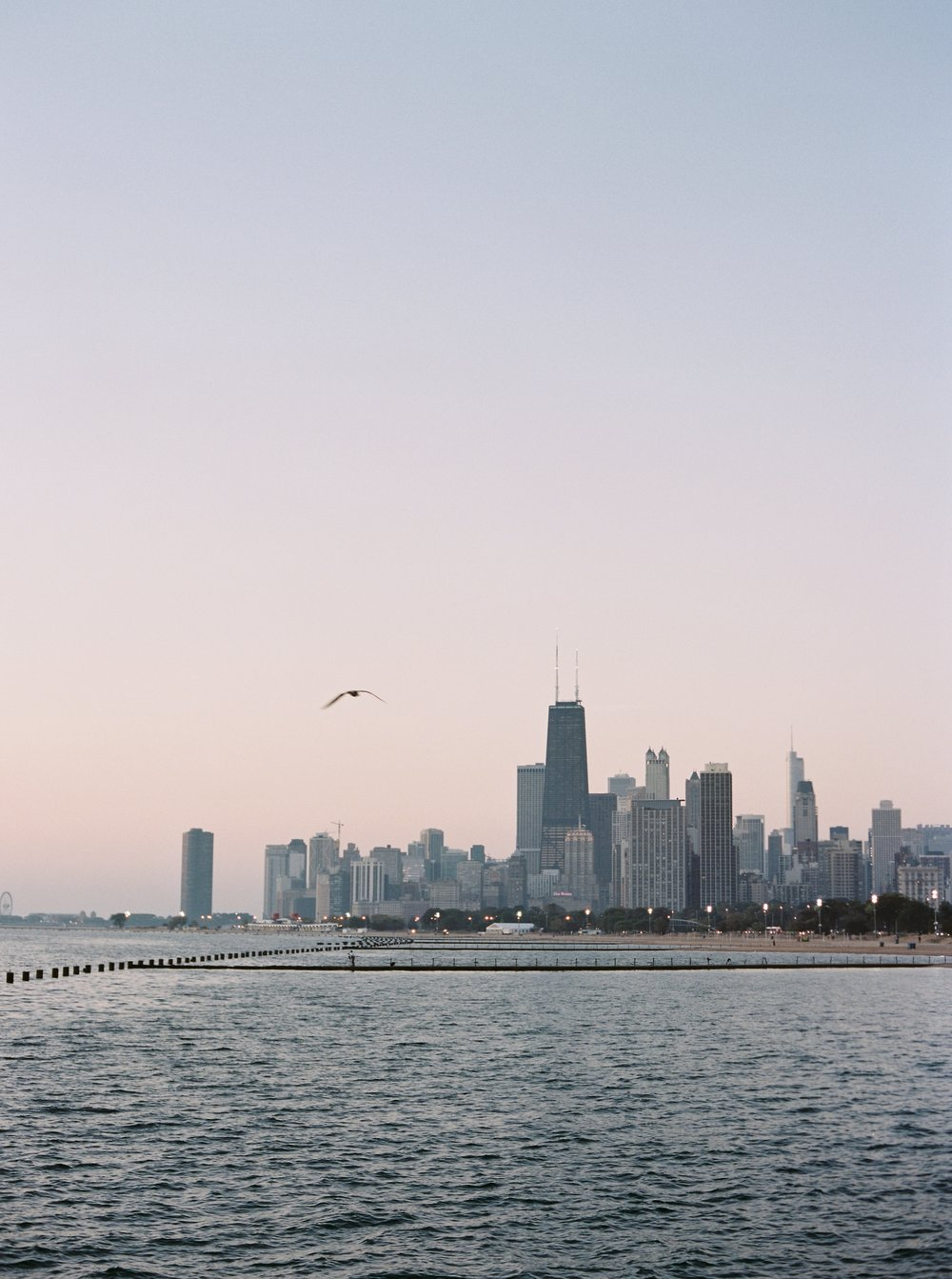 Kyle John l Fine Art Wedding Photography l Chicago, Copenhagen, California, New York, Destination l Blog l Nathalie and Colby_Lake Michigan_Sunrise Engagement_1