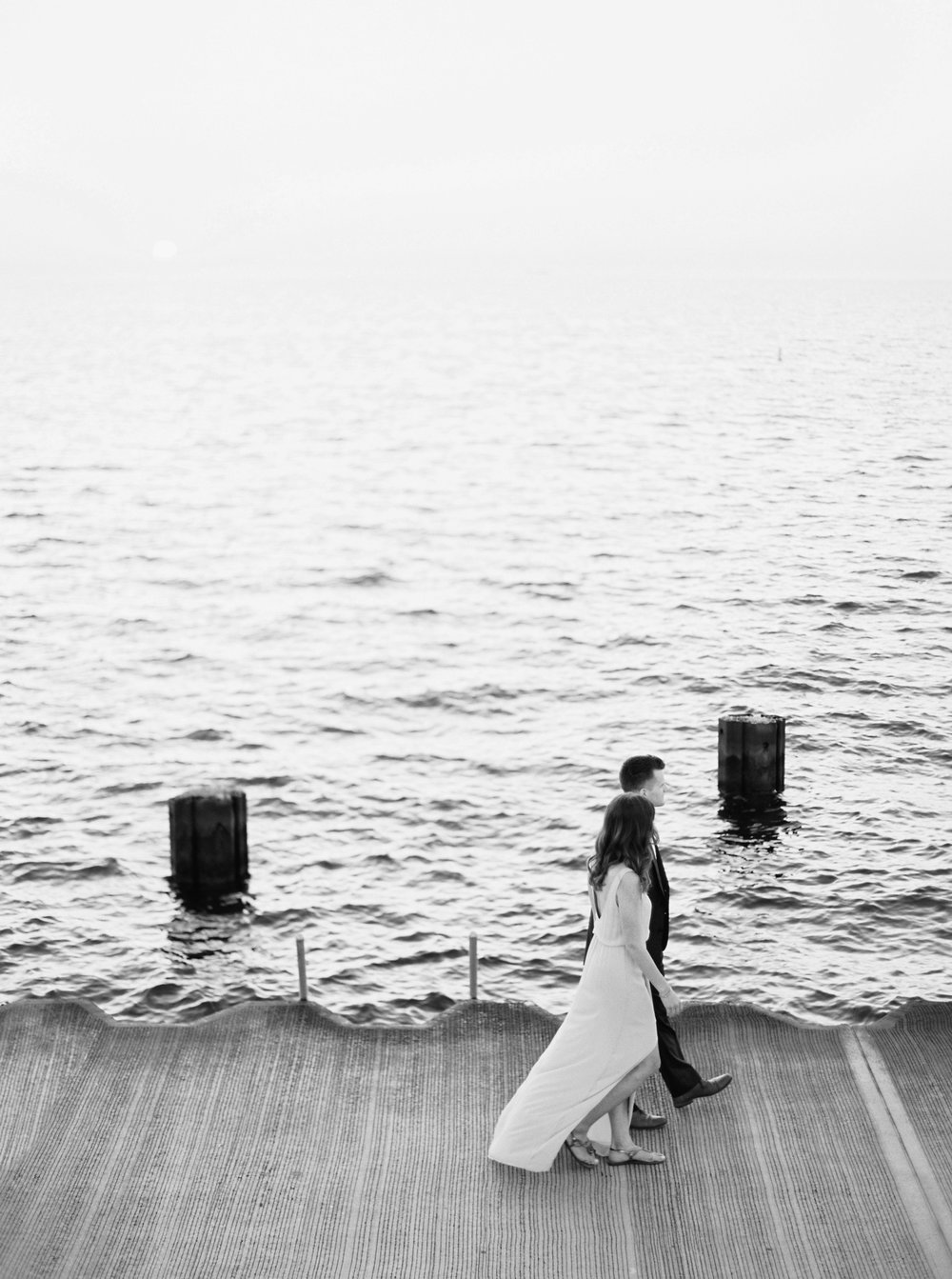 Kyle John l Fine Art Wedding Photography l Chicago, Copenhagen, California, New York, Destination l Blog l Nathalie and Colby_Lake Michigan_Sunrise Engagement_2