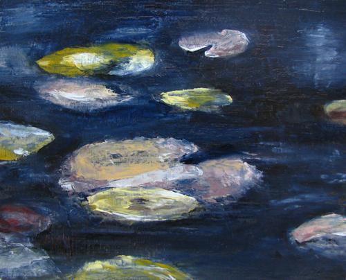 Autumn Pond, oil on panel 8x10