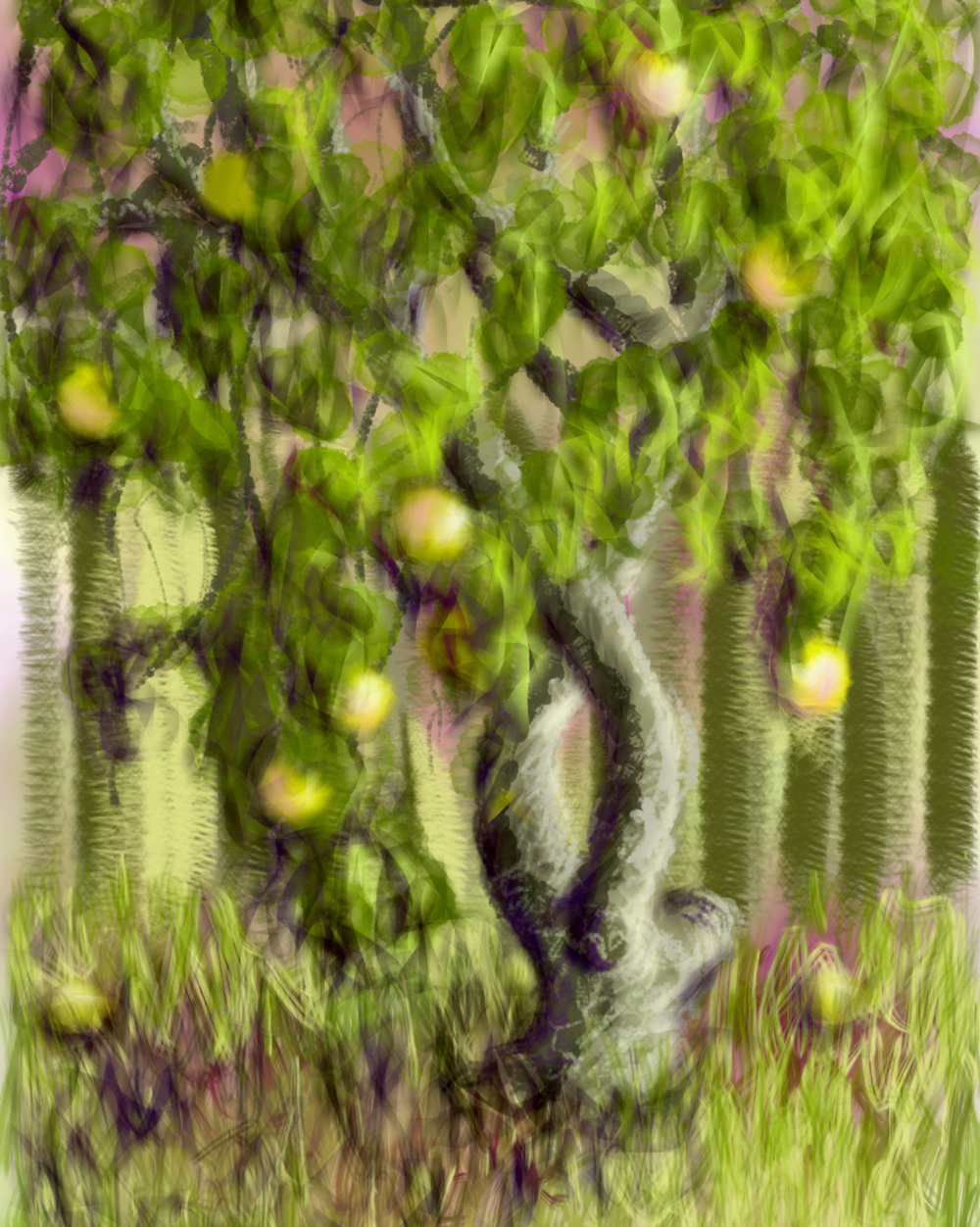 """Backyard Harvest"", digital"