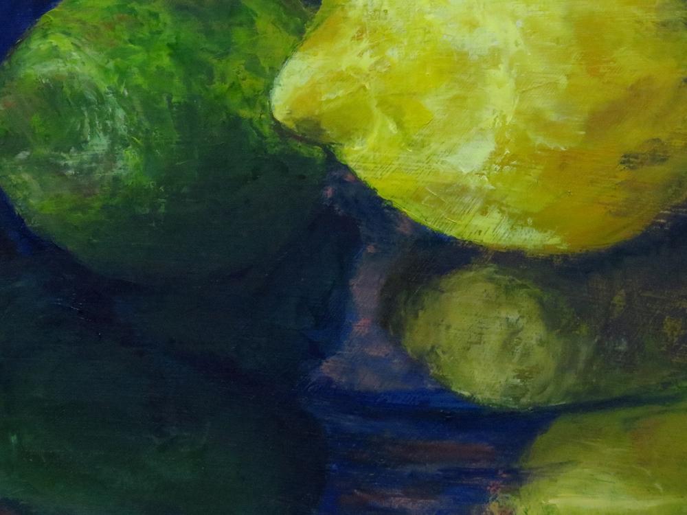 """""""Edible Sunshine"""", Detail, oil on panel,"""