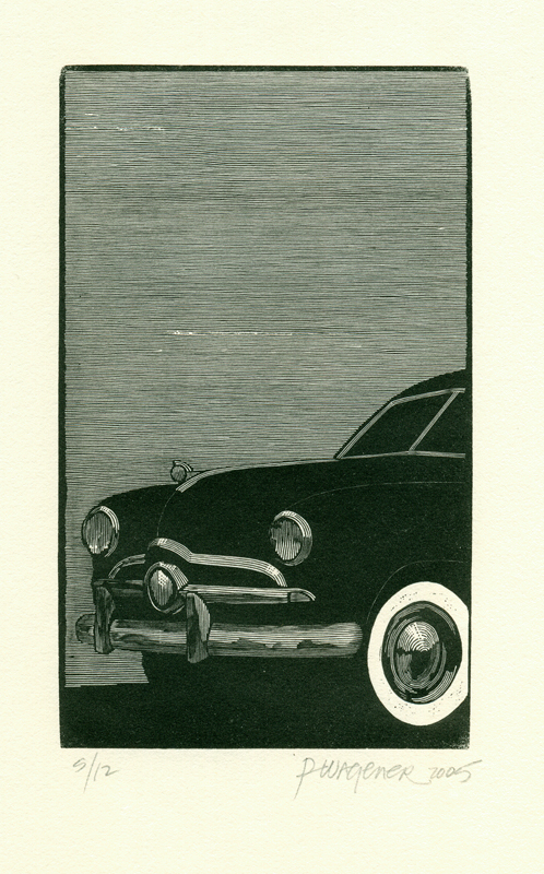 Richard Wagener.  1949. Ford.  Woodengraving, 2005.   $300
