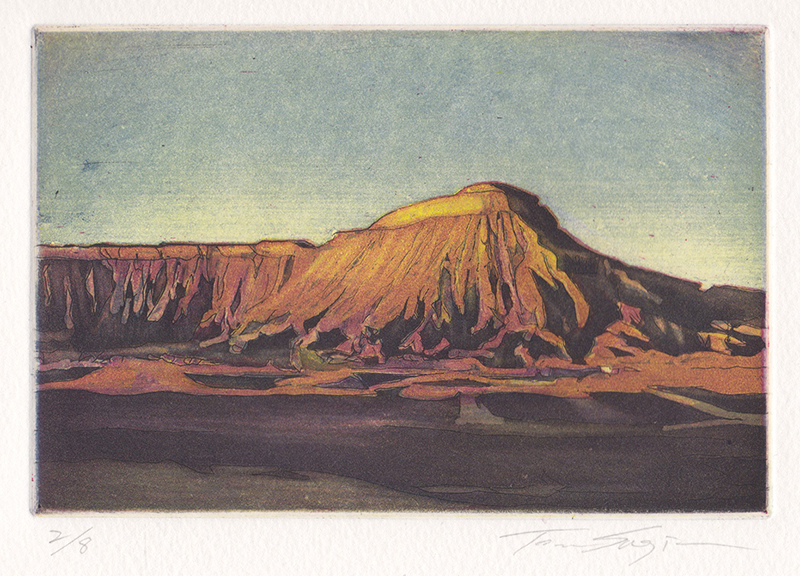 Toru Sugita. Mt. Garfield - Last Flash. Color etching & aquatint, 2013.  $250