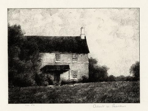 Albert Barker, Tenant House, Lithograph, 1937.  $275
