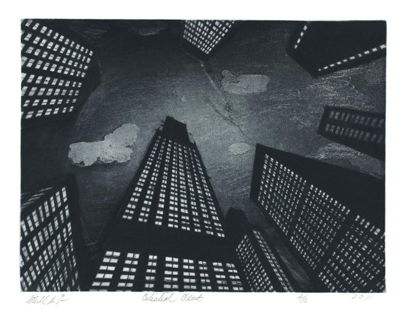 Michael Di Cerbo, Celestial Quest, etching, aquatint and drypoint, 2011. $250