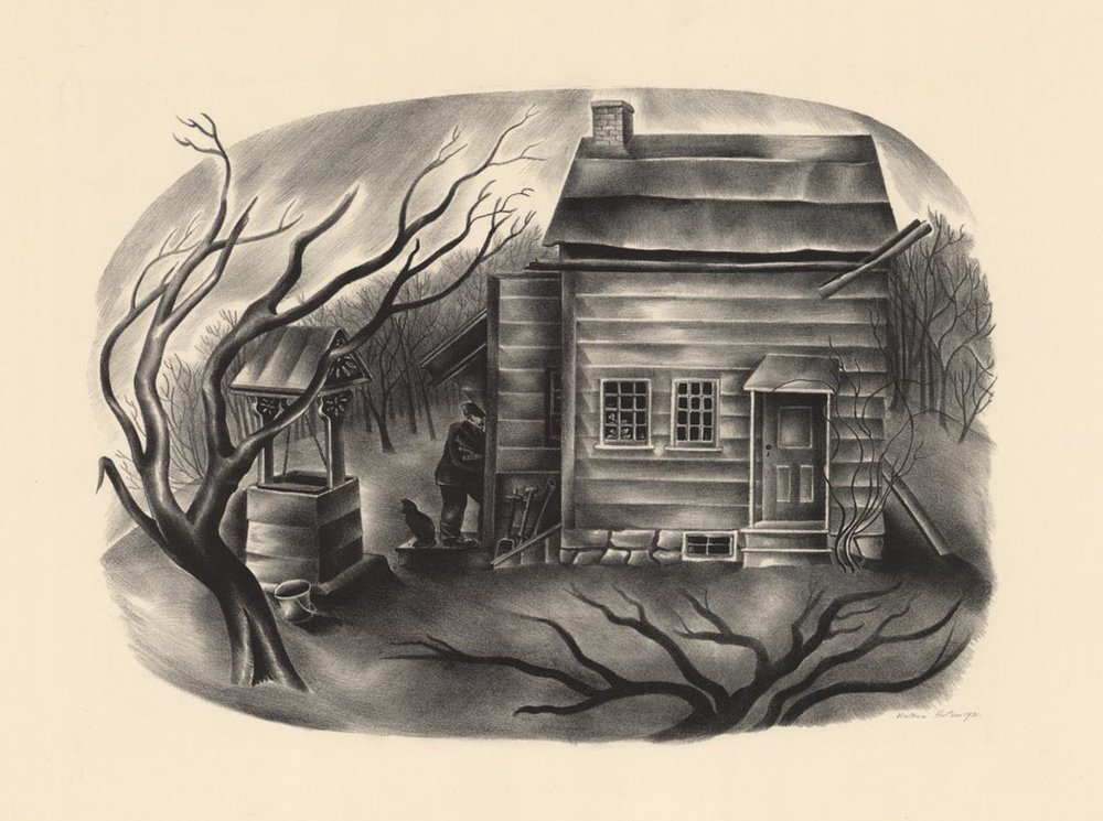Victoria Huntley, Cabin, Lithograph, 1931.  $175