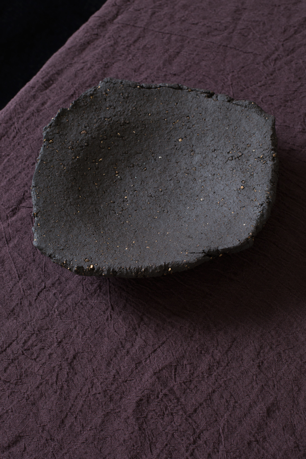 Dark Earth Bowl Approx 27cm D x 5cm H