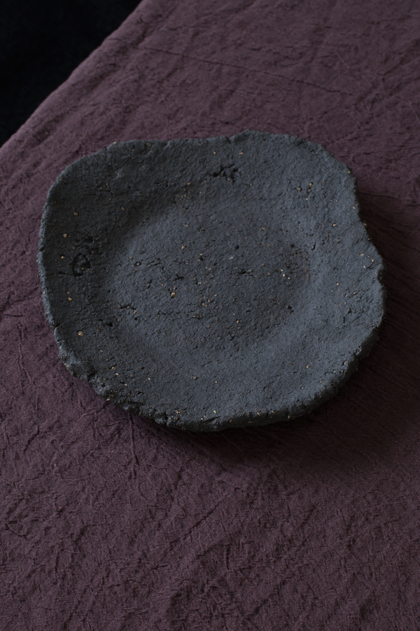 Dark Earth Plate  Approx 25.5cm D x 3cm H