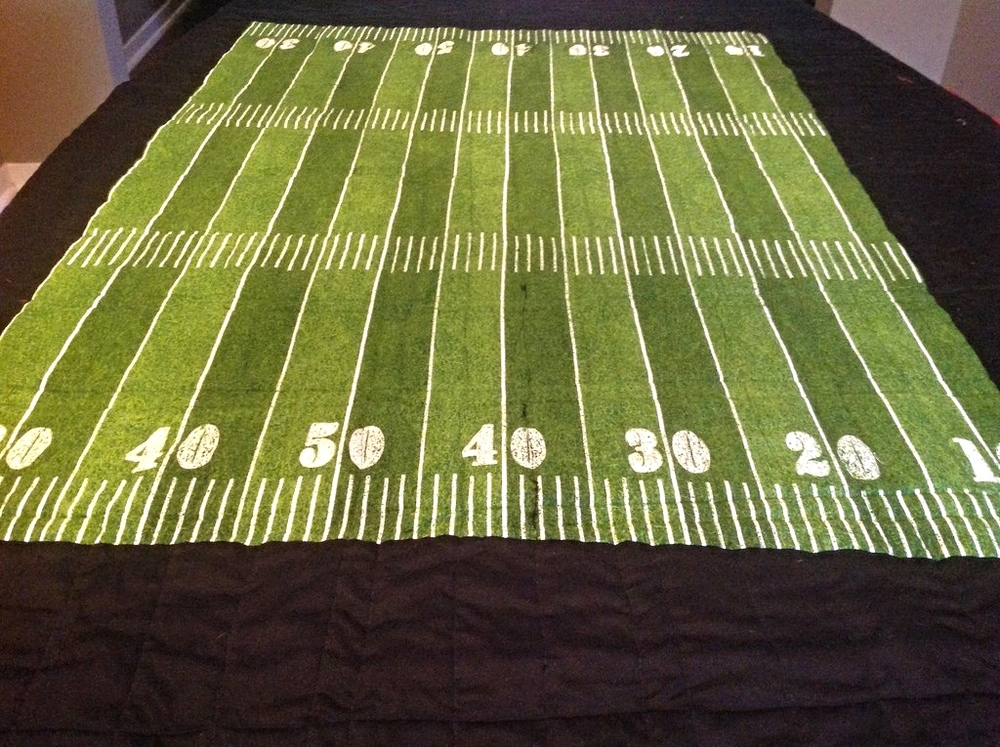Back of the Football Quilt