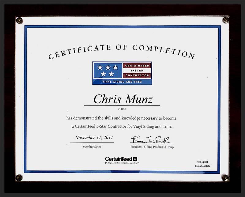 Munz Construction Awards
