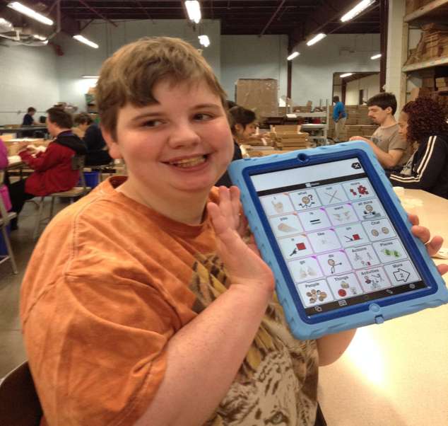 I am Samantha Pettit and I just received an Ipad and Proloque from Andrew's Gift. I love being able to tell people about my 4 cats, millions of fish and jumping frog.  I also use my Ipad to express my emotions. Thank you for the gift of expression.-Samantha Pettit