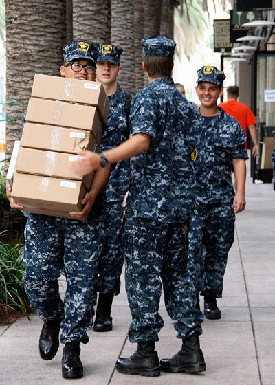 Sea Cadets at work