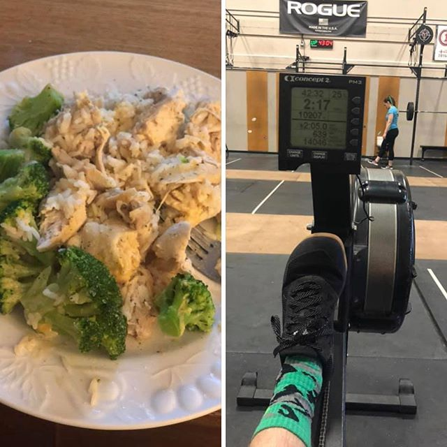 Alllll the great FOOD, ROWING and GREEN this week for The Open!! 1020 athletes are kickin booty at these fun weekly challenges! #intheopen #row10,020meters #makehealthychoices #weargreen #fitfam #teamred #teamblack @crossfittentwenty