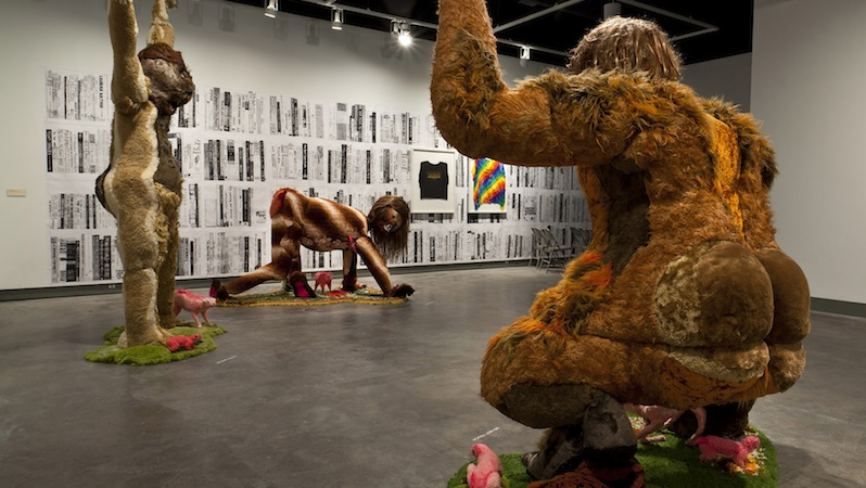 Allyson Mitchell. Ladies Sasquatch, 2006-2010. Courtesy of the artist and Katharine Mulherin Gallery, Toronto.