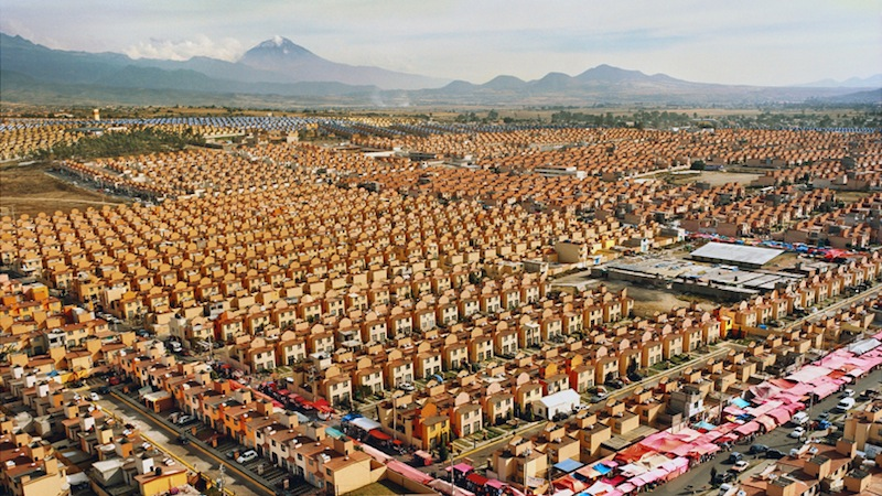 Livia Corona Benjamin,  47,547 Homes. Ixtapaluca, Mexico  (detail), 2011. (Courtesy of Galería de la Raza)