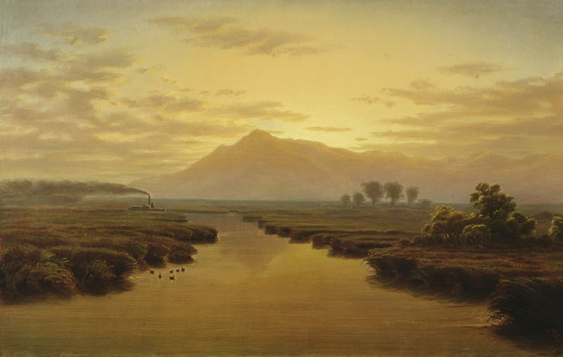 William Marple, 'Mount Tamalpais from Napa Slough,' 1869. (Courtesy California Historical Society)