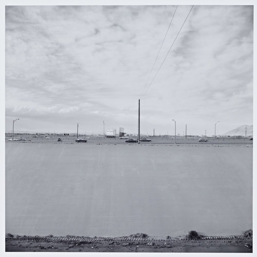"Frank Gohlke, ""Landscape, Albuquerque"" (1974), gelatin silver print (photo courtesy Cantor Arts Center)"