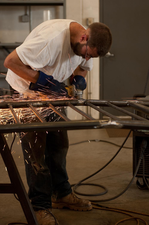 Grinding Welds, Handrails, General Mills