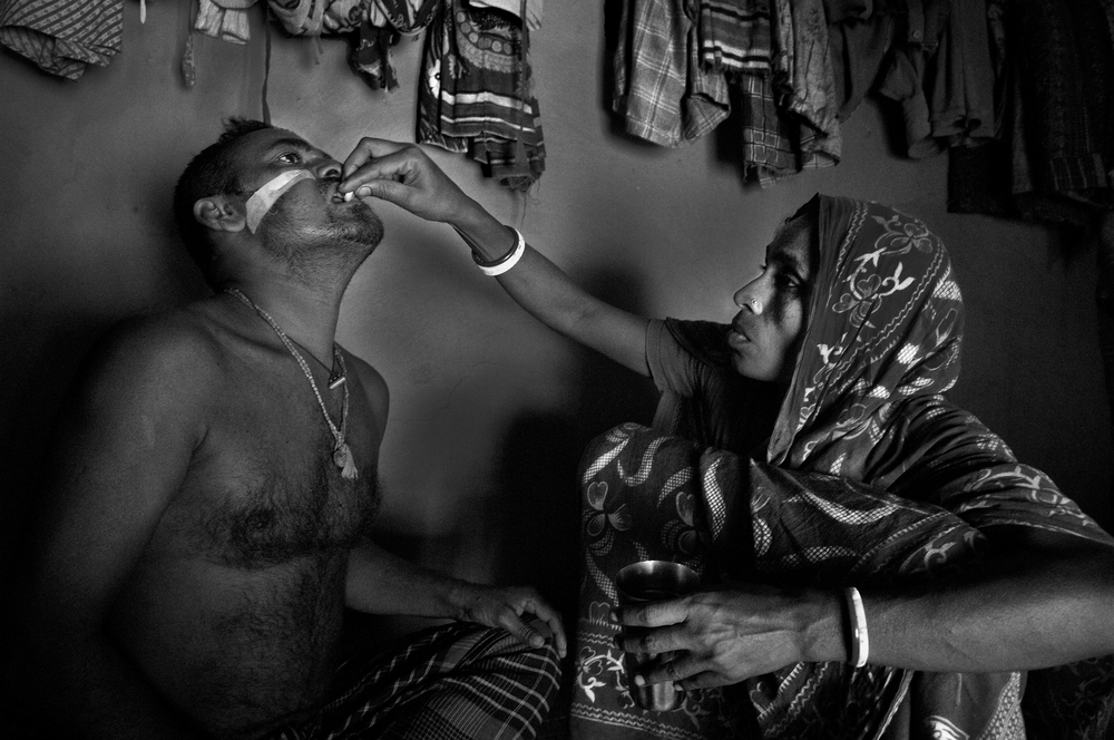Shubash (40) had first hand experience with one of that attacks went to Sundarban to catch fish on the month of January 2011. He lost a fraction of his face and shoulder to a starving Tiger and was disabled. He survived but he have to spend his life with this disability.