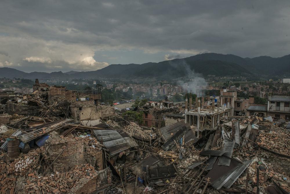 Devastated  Bhaktapur city