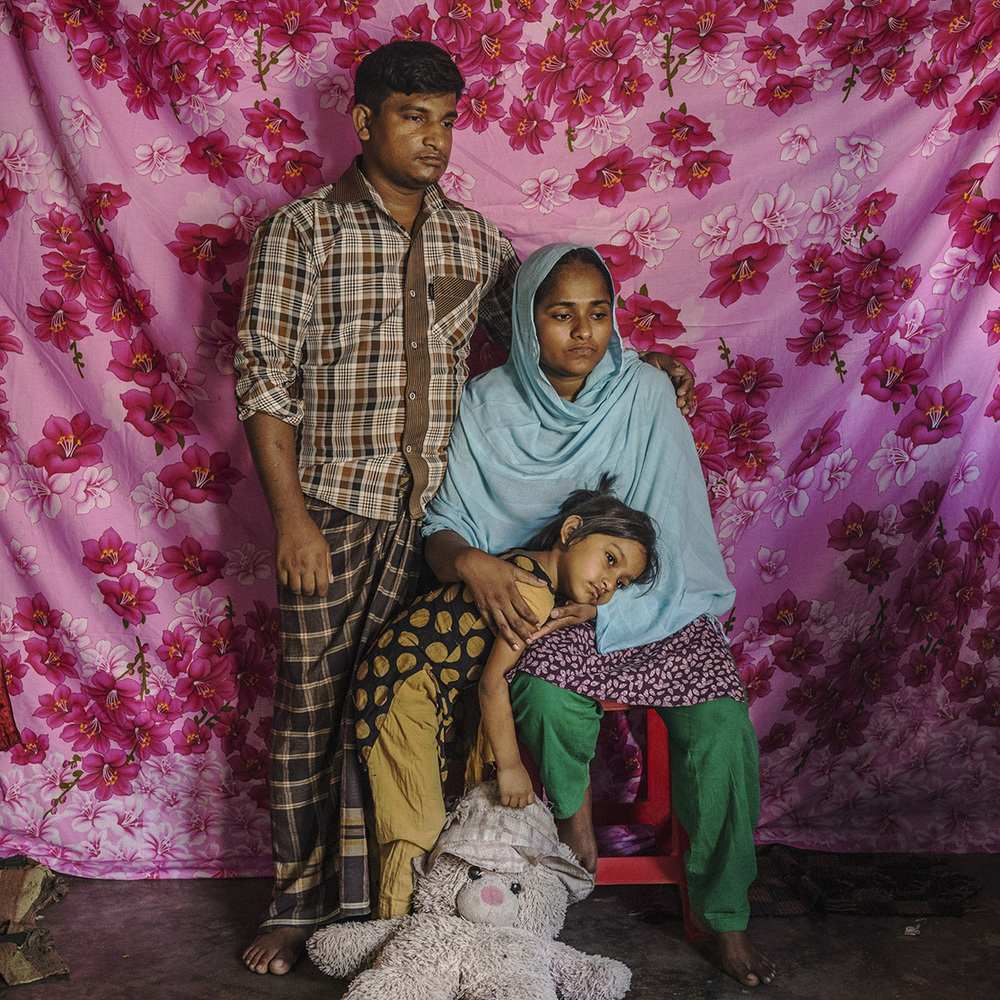 "Rozina Akhter, 30, was stuck under a beam during the Rana Plaza incident. She shares, ""Before the Rana Plaza accident, I earned my own money and lived my life in my own way. But now I am stuck at home as a handicapped person. I cannot do anything without the help of another person."