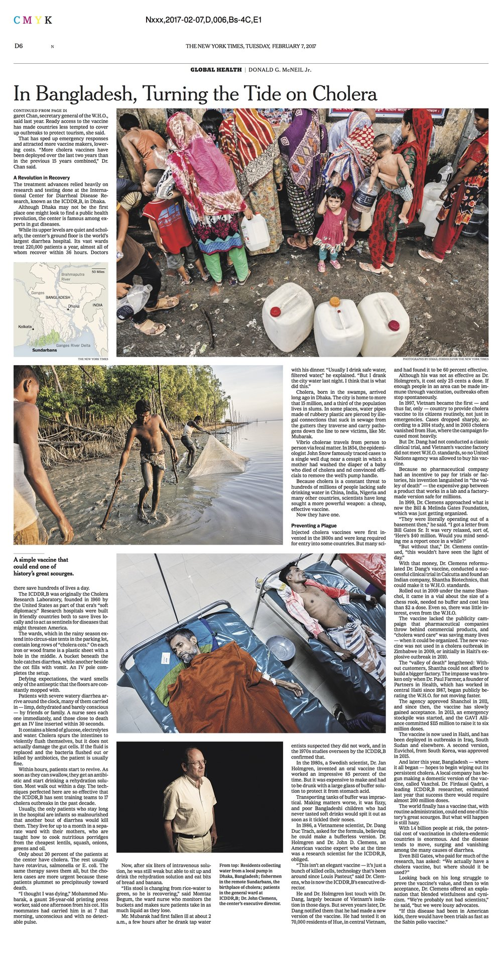 The New York Times Science-Cholera-2