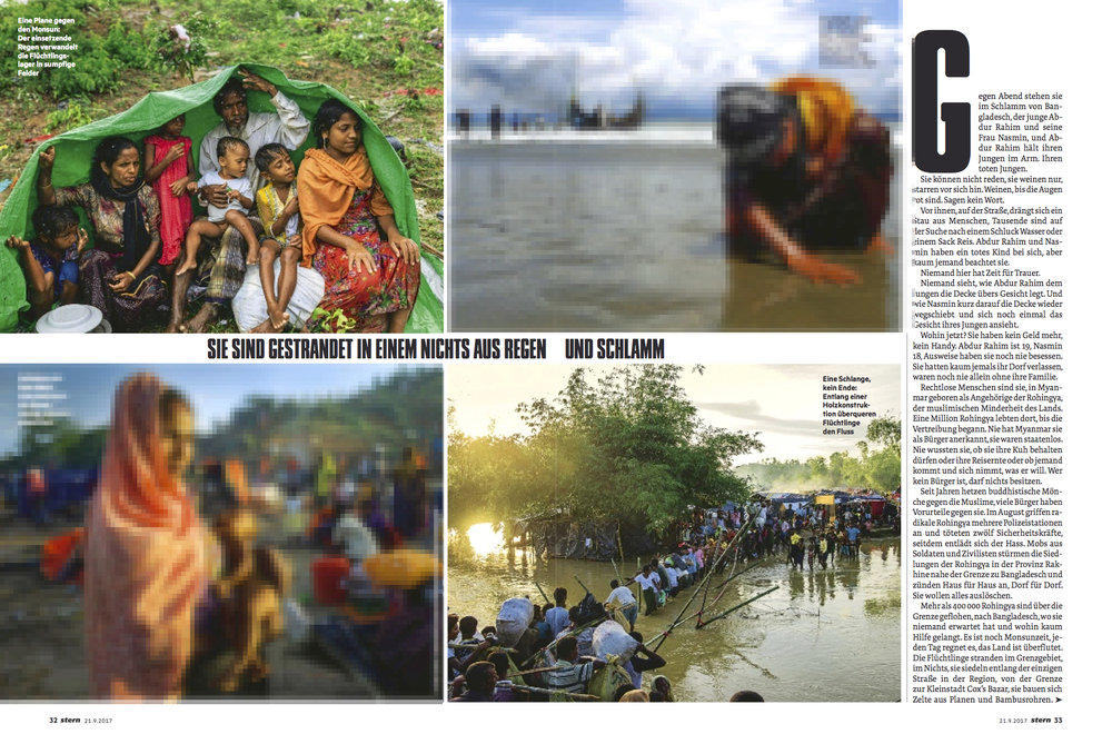 Rohingya Refugee Crisis By Ismail Ferdous for Stern Magazine