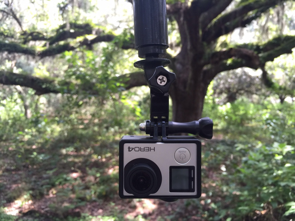 GoPro mounted to Cable Cam