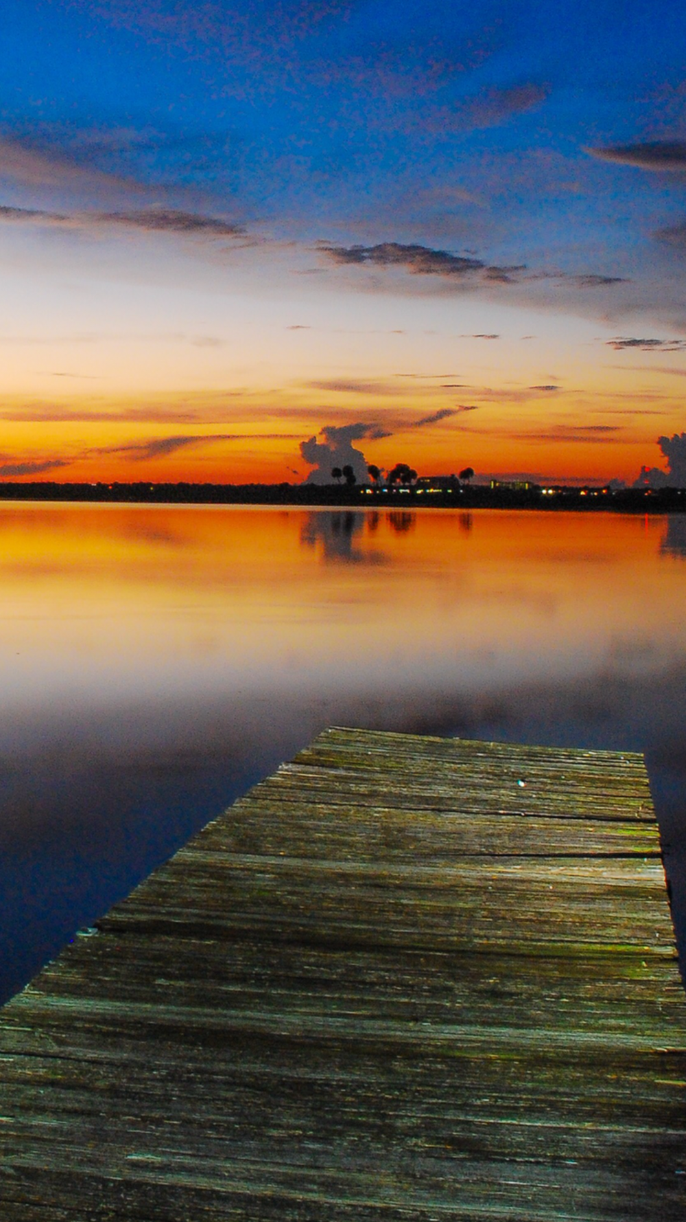 Sunset Dock. Free Wallpaper
