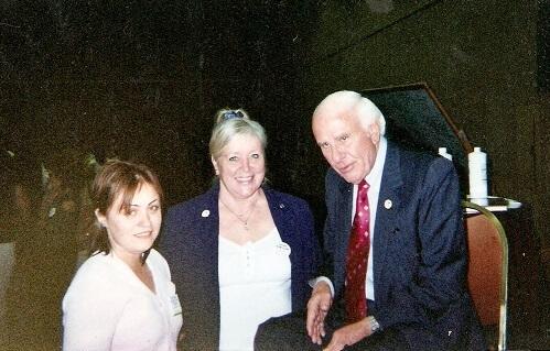 Irina Popa-Erwin (left) &  Jim Rohn  (right) in 2004