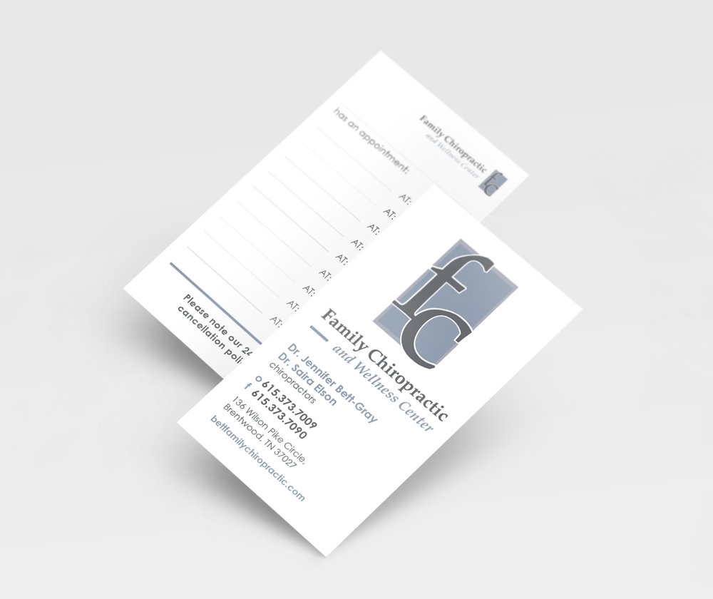 Print Design + Hand Lettering for FAMILY CHIROPRACTIC — Karolina ...
