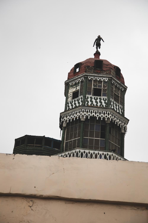 The wealthy man's watch tower overlooking the bullfighting arena