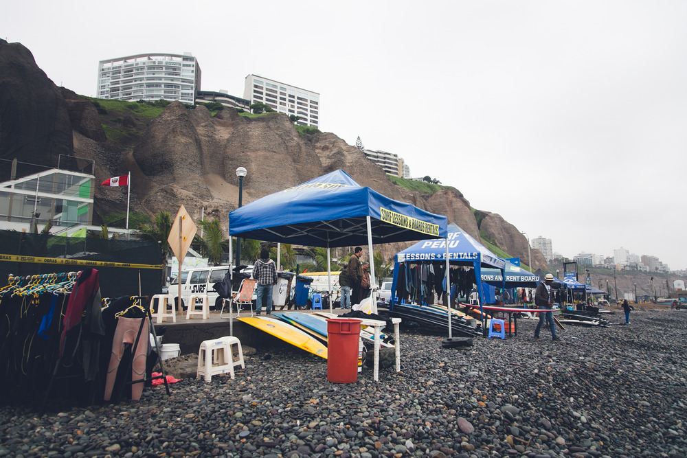 Surf tents of Mira Flores