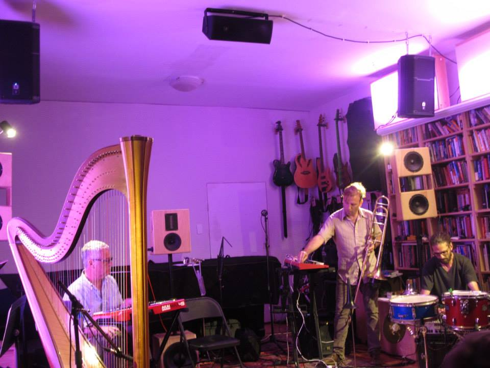 Richard Barrett (left) and UllU (Chris McIntyre & Dave Shively) at Spectrum, 6/30/15