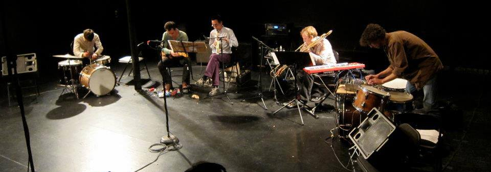 UllU and Friends at Incubator Arts Project L to R: Eli Keszler, Taylor Levine, James Fei, Chris McIntyre, Dave Shively