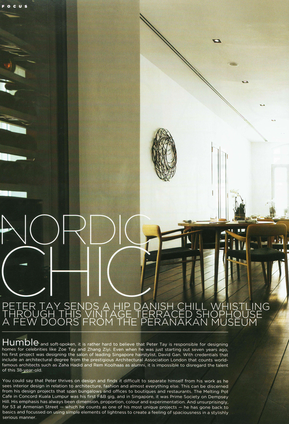 "2009 Vol 2 / FORM Magazine – ""Nordic Chic"" 53 Restaurant"