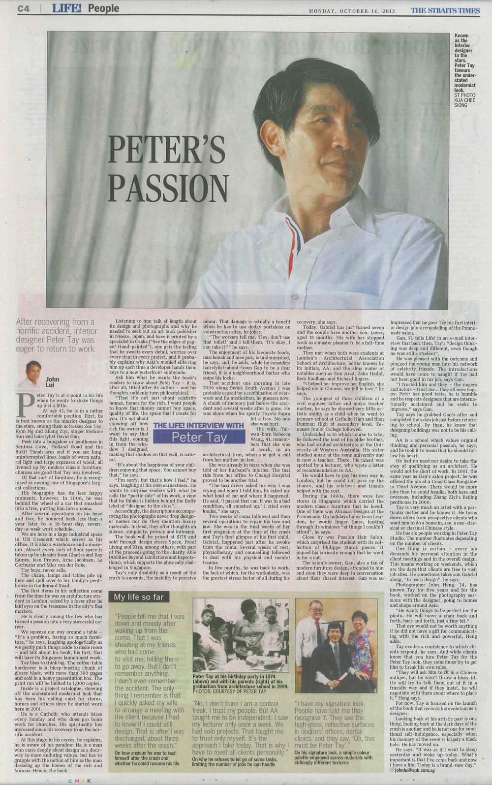 2013, Oct 14 / The Straits Times