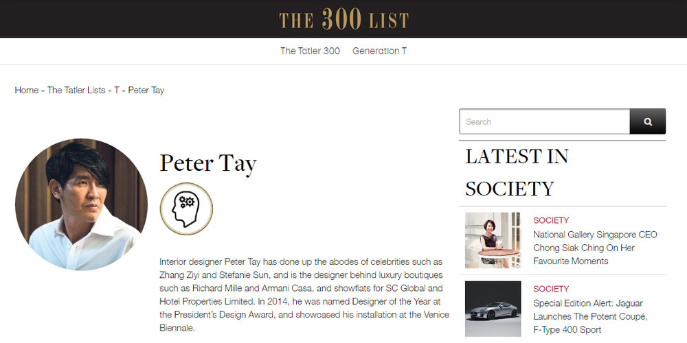 Singapore Tatler Top 300 List
