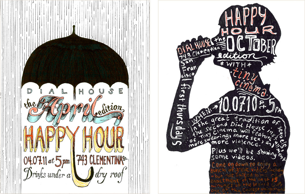 Dial House Happy Hour Posters Yes Design Shop