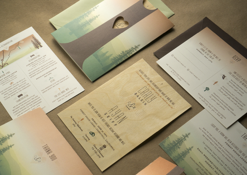 Baleix-Seiff Wedding Invites, 2014 AGDA winner, Announcements & Invites Category