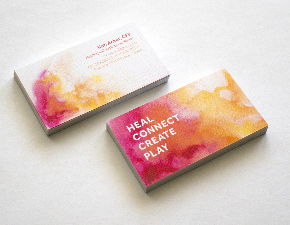 Kim Acker Business Cards, 2014 AGDA winner, Branding & Identity Programs Category