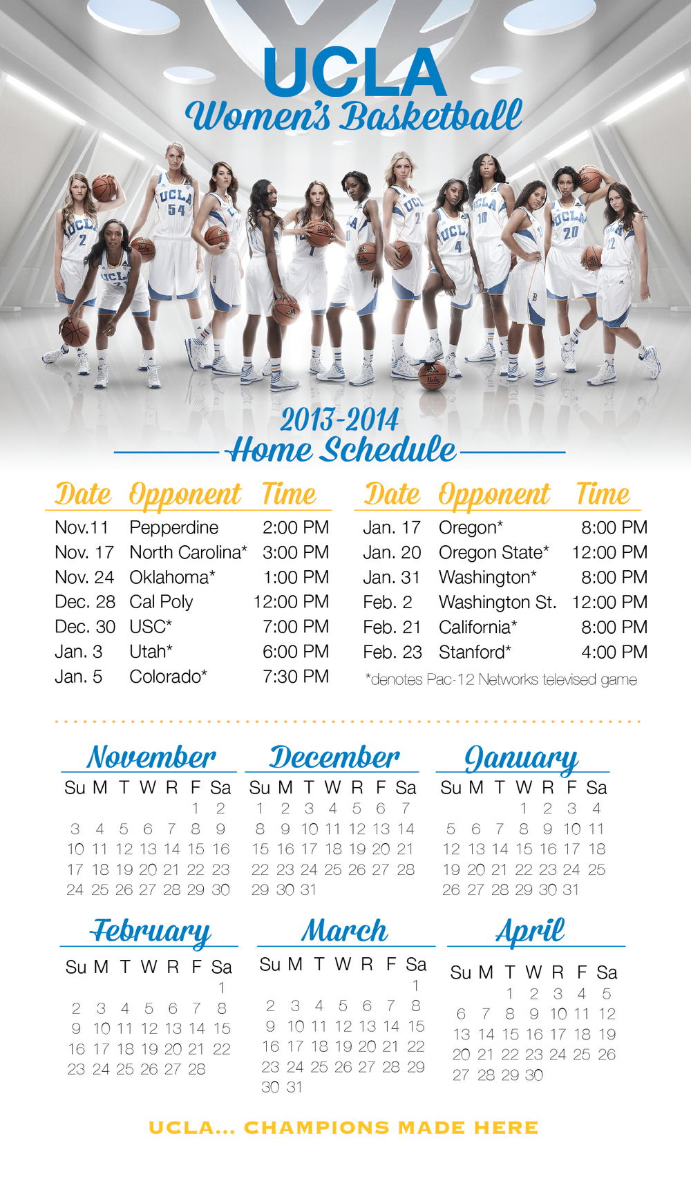 2013-2014 Magnetic Schedule