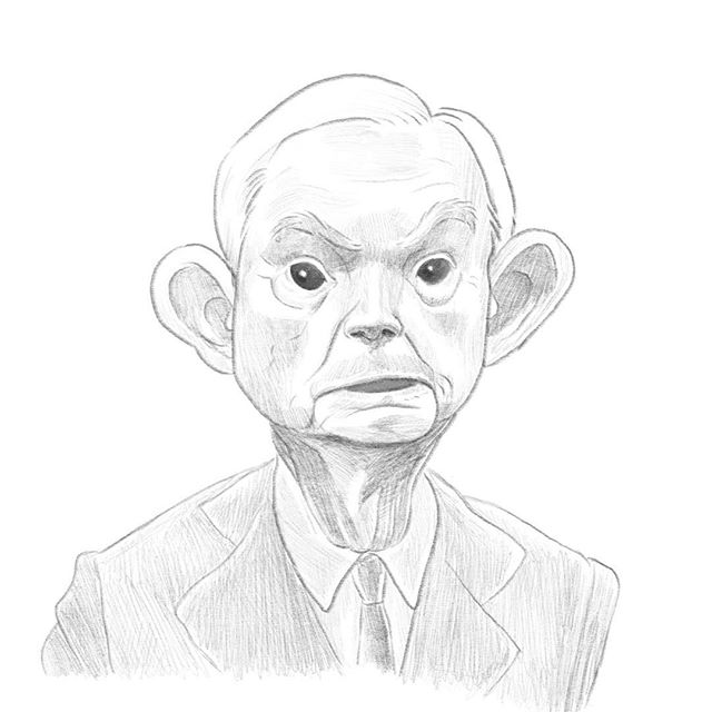 Just a quick warmup session with one of Santa's disgruntled elves... #sessions, #rnc #session #sketch #sketchbook #sketching #quicksketch #Instaart #instagramart #digitalsketches #art #drawing #Illustrator #artistoninstagram #instaart #portraits #portrait #politics
